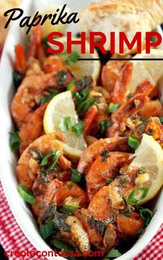 Paprika Shrimp with Roasted Garlic and Lemon Butter-Creole Contessa