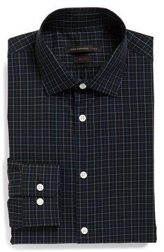 John Varvatos Star USA Slim Fit Check Dress Shirt available at #Nordstrom