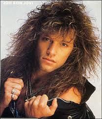 Bon Jovi with his big 80s hair. Sexy then, sexier now. :)