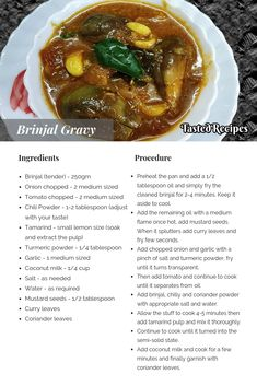 Brinjal gravy is evergreen yummy and delightful homemade style rich recipe. In the customary cooking method usually, we do not use coconut. Indian Food Recipes, Vegetarian Recipes, Cooking Recipes, Andhra Recipes, Curry Recipes, Rich Recipe, Taste Recipe, Spicy Dishes, Thing 1