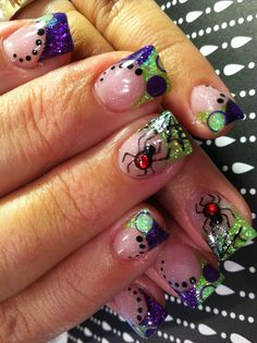Spider Nails for Halloween