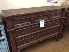 Lots Of Detail In This Vintage Style All Wood Dresser/accent Piece $1399