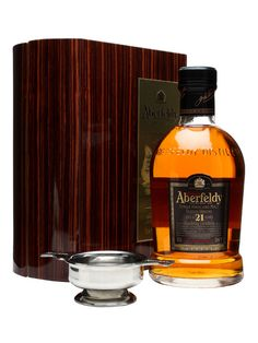 Aberfeldy 21 Year Old / Quaich Gift Pack : Buy Online - The Whisky Exchange - Aberfeldy's excellent 21 year old whisky packaged in their usual variety of high quality box but with the added bonus of a heavy metal quaich to allow you to drink your whisky in the 'traditional' ...