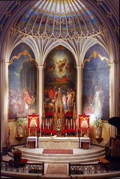 Altar at Old St Patrick's in NOLA, via church's site Architecture Religieuse, Art Et Architecture, Old Churches, Catholic Churches, Take Me To Church, Les Religions, Church Interior, Cathedral Church, Church Building