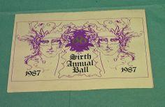 1987 Mobile AL Mardi Gras Osiris Sixth Annual Ball Invitation  Mystic Society