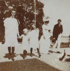 "otmacamera: ""Olga Nikolaevna, Georg Donatus of Hesse & Anastasia Nikola even in Hemmelmark, July 1909 """