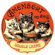 Vintage French cheese label (c. 1910)