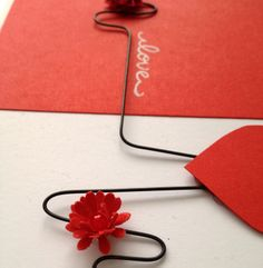 Heatbeat Love - Wire - Handmade Card