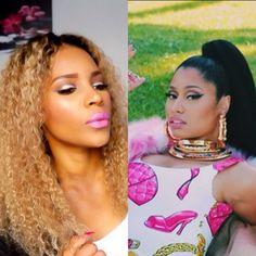 [Inspired] Nicki Minaj ft Beyonce Feeling Myself Inspired Makeup Tutorial
