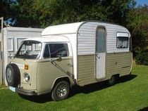 A good idea if we find a neat little camper, too. Tiny Camper, Small Campers, Campers For Sale, Vw Camper, Camper Trailers, Travel Trailers, Vw Conversions, Camper Conversion, Chuck Box