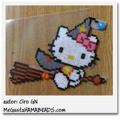 Witch Hello Kitty hama beads by Ciro GN