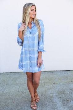 Your Boyfriend's Button Down Dress By BB Dakota
