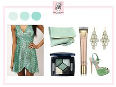 turquoise sequins dress, for special night
