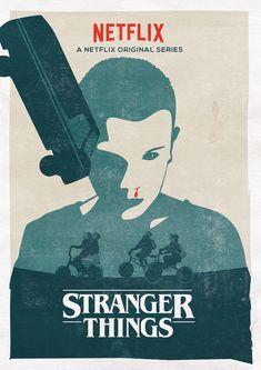 Poster de la série Stranger Things basé sur l'affiche de l'excellent film Tallulah