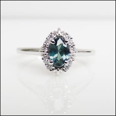 Alexandrite Diamond non-traditional engagement ring by Eniko, $3260.00 Custom orders are welcome with various gemstones, diamonds and gold.