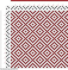 Weaving Draft Page 122, Figure 9, Donat, Franz Large Book of Textile Patterns, Germany, 1895, #26723