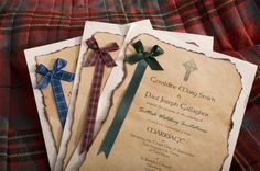 The Best Scottish and Celtic Wedding Invitations - Scroll