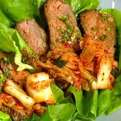 Mario Batali's Spicy Beef Lettuce Wraps