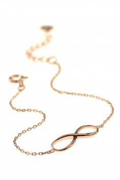 infinity armband unendlichkeit symbol zeichen rose vergoldet