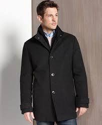 London Fog Coat, Lynwood Wool-Blend Car Coat with Scarf - Mens ...