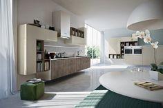 couleur cuisine blanche et des armoires en bois clair