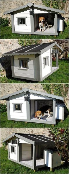 Dog is lovely and is a faithful animal due to which people mostly prefer to take a dog to the home, so they can get a friend who lives with him/her every time. A dog is not someone, who can be left without any specific place in the home at night time; so here we are going to present an idea to create cute dog house made up of shipping pallets. The dog house design is creative and it is difficult to find it anywhere in the market, it is safe to be set outside the home.