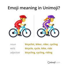Do you like bicycling? 🚴♂️🚴♀️ Comment below. 😃💬  More in Instagram...  #Unimoji #emojilanguage #new #universal #emoji #language #emojimeanings #icon #symbol #picture #graphics #emojimeaning #emojione #bicycle #bicyclist #bicycling #cycle #cyclist #cycling #bike #biker #biking #ride #rider #riding #rideabike #bikerider #mountainbiker #mountainbike #mountainbiking Emoji Language, Bike Rider, Bicycling, Mountain Biking, Meant To Be, Biker, Graphics, Instagram, Cycling