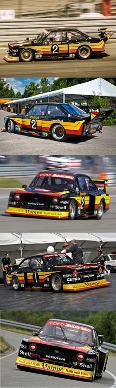 1977 Zakspeed Ford Escort / group 5 liveries / UK Germany / Mampe / black red yellow / competition