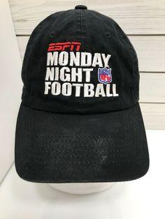 a0eaedccc ESPN Monday Night Football NFL Black Baseball Hat Cap Strap Back 100%  Cotton  HeadmasterInc