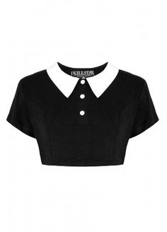 Kill Star Addams Crop Top | Attitude Clothing