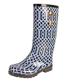 Bring a stylish touch to cloudy days with these chic rain boots, showcasing rubber outsoles and an eye-catching trellis motif in navy. Jessica Simpson Collection, Shoe Closet, Girly Things, Girly Stuff, Random Stuff, Types Of Shoes, Signature Style, Passion For Fashion, Me Too Shoes