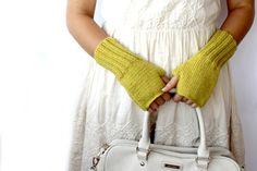 #Autumn #Finds /  #Mustard #Yellow  /  #Fingerless #Gloves  by gloveshop, $30.90