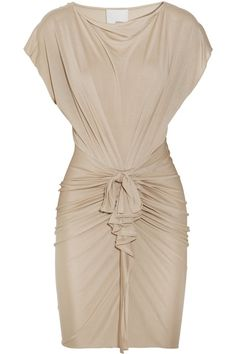 PHILLIP LIM Draped silk and cotton-blend jersey dress by harriet