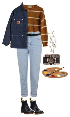 """artsy"" by julietteisinthe80s on Polyvore featuring Samuji, Topshop, Warehouse, Ileana Makri, Dr. Martens, Carhartt and Pier 1 Imports TENUE VINTAGE DU MOMENT À ESSAYER ▶☞"