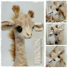 Teddy & Puppenmachen - ♡ SCHNITT / E-BOOK Giraffe giraf NOOMi ♡ Shabby ♡ - ein Designerstück von Teddy-Manufaktur bei DaWanda