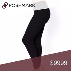 LAST DAY FOR SALE! FREE CLOTHES! MAKE BUNDLE Solid black peachskin leggings. They are one size fits most. Not stretched they are across the top is 12 inches and inseam is 29 inches. Stretched across the top is 18 inches & inseam is 35 inches. When stretched they are still a solid black. Pants Leggings