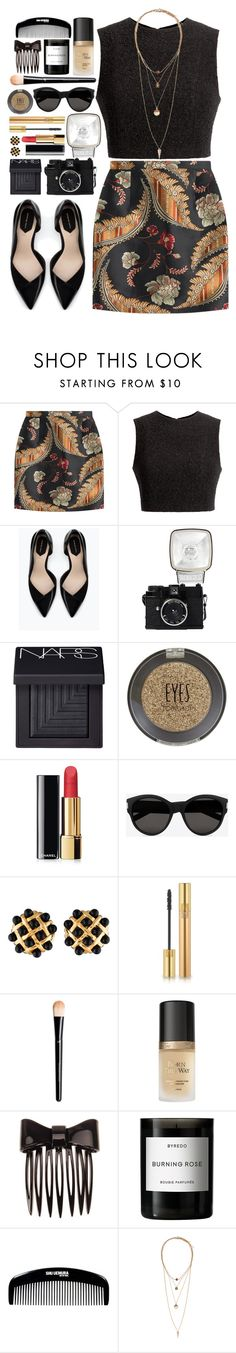 """""""#665 Aurelia"""" by blueberrylexie ❤ liked on Polyvore featuring Dsquared2, Thakoon, Zara, Lomography, NARS Cosmetics, Topshop, Chanel, Yves Saint Laurent, H&M and Too Faced Cosmetics"""
