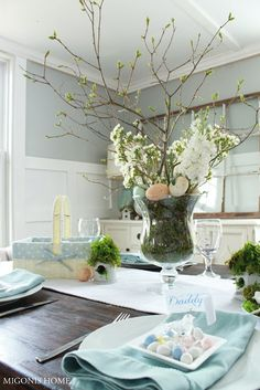 Spring or Easter table from Migonis Home blog