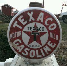 Texaco smoke stack gas pump globe