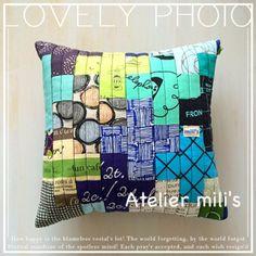 ミリズのプティ☆パ(petit pas):カッコ良すぎたかなヽ(o'u≦o) Sewing Pillows, Pin Cushions, Teapot, Throw Pillows, Quilts, Coffee, Scrappy Quilts, Atelier, Kaffee