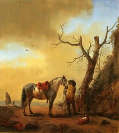 The Athenaeum - Soldier and his Horse (Philips Wouwerman - )