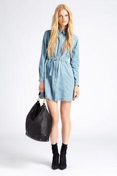mulberry- denim shirt dress