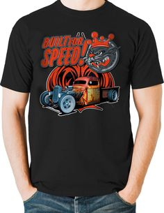 Rat Rod T Shirts Hot Rodder Pickup Truck Built For Speed Small to 6XL and Tall #PitStopShirtShop #GraphicTee