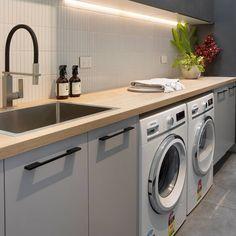 Laminate Benchtop, Washing Machine, Kitchen Design, Laundry, Home Appliances, Cleaning, Freedom, Kitchens, House