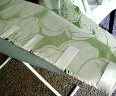 A creative way to sew curtains without using tab tops or a casing. I love the way it looks when it's hanging!