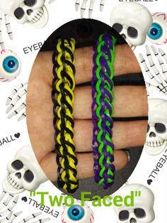 "My New ""Two Faced"" Rainbow Loom Bracelet/ How To Tutorial"