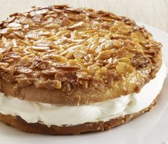 Bienenstich.  This German recipe is also known as Bee Sting Cake.