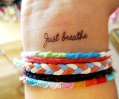breathe wrist tattoo