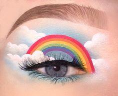 Makeup Eye Looks, Eye Makeup Art, Colorful Eye Makeup, Crazy Makeup, Cute Makeup, Pretty Makeup, Eyeshadow Makeup, Makeup Eyes, Make Up Yeux