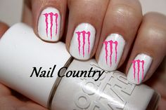 Hey, I found this really awesome Etsy listing at http://www.etsy.com/listing/158754915/50pc-pink-monster-energy-nail-decals